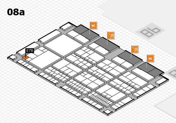 interpack 2017 hall map (Hall 8a): stand E78