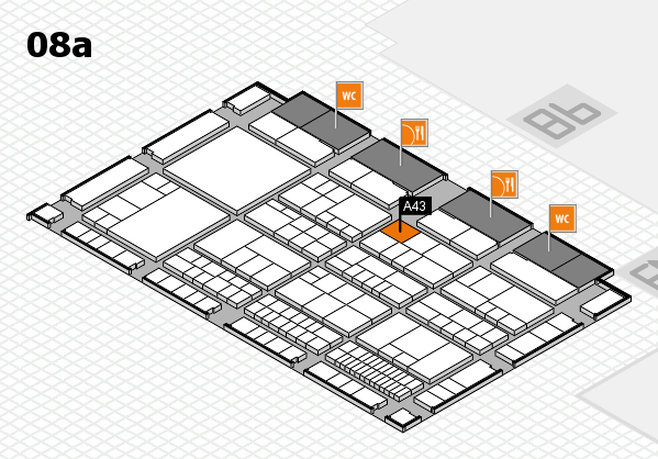 interpack 2017 hall map (Hall 8a): stand A43