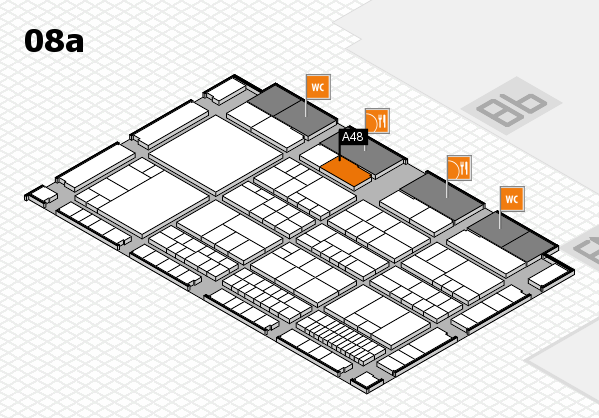 interpack 2017 hall map (Hall 8a): stand A48