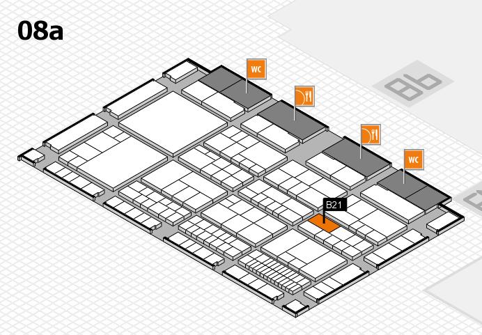 interpack 2017 Hallenplan (Halle 8a): Stand B21