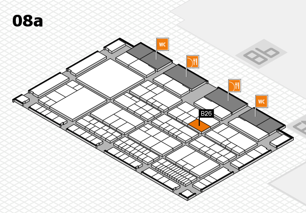 interpack 2017 hall map (Hall 8a): stand B26