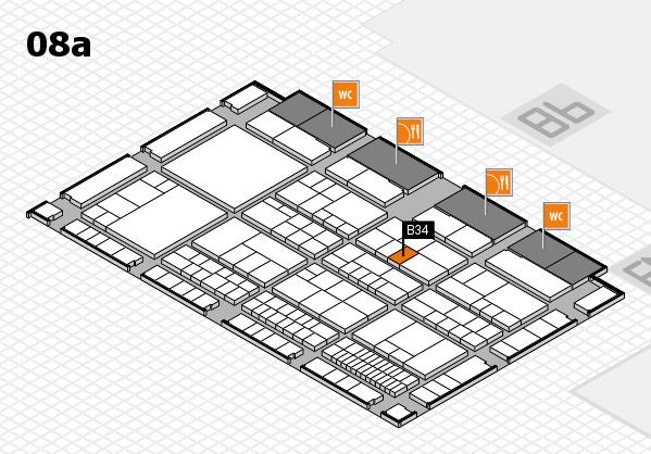 interpack 2017 Hallenplan (Halle 8a): Stand B34