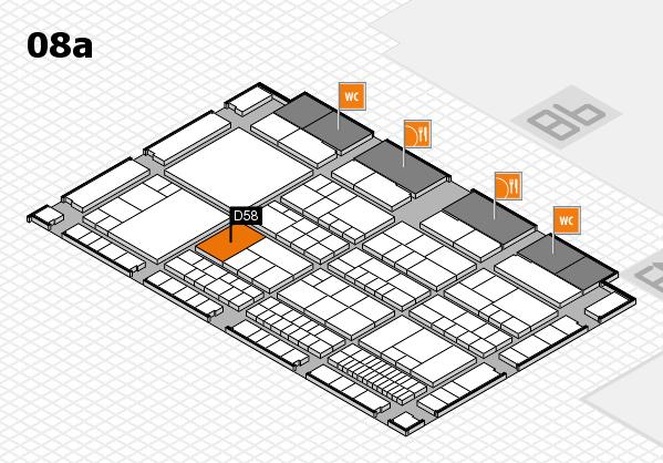 interpack 2017 hall map (Hall 8a): stand D58
