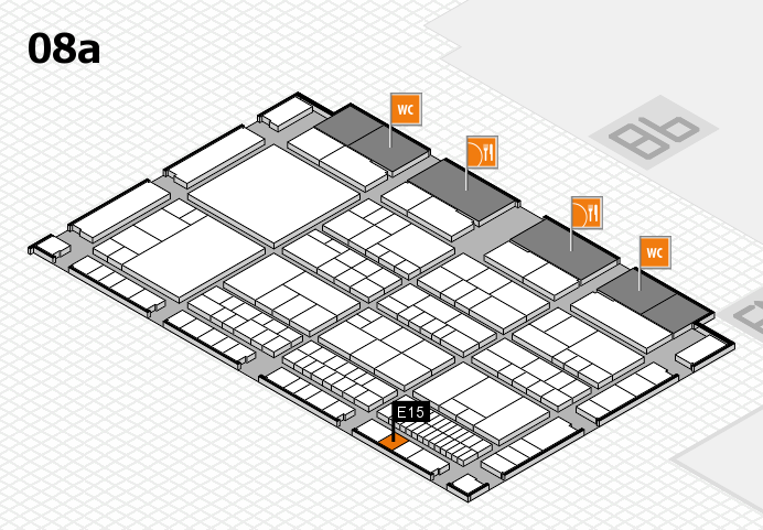 interpack 2017 Hallenplan (Halle 8a): Stand E15