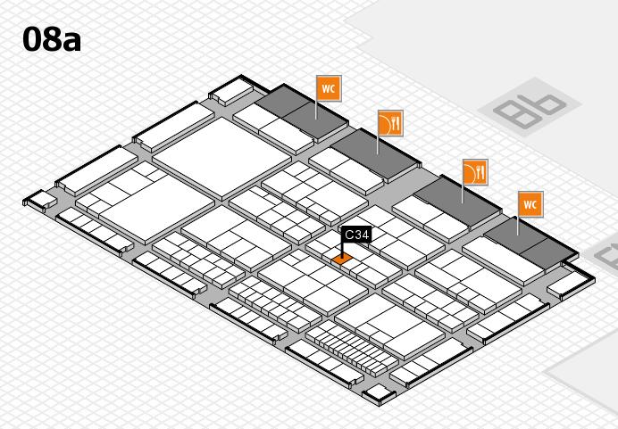 interpack 2017 Hallenplan (Halle 8a): Stand C34