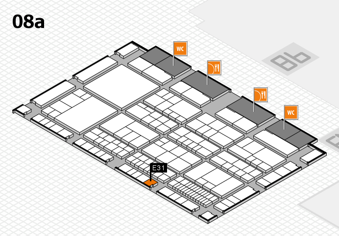 interpack 2017 hall map (Hall 8a): stand E31