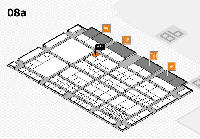 interpack 2017 Hallenplan (Halle 8a): Stand A61