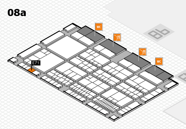 interpack 2017 hall map (Hall 8a): stand E71