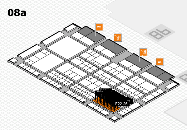 interpack 2017 hall map (Hall 8a): stand E22-1, stand E22-9
