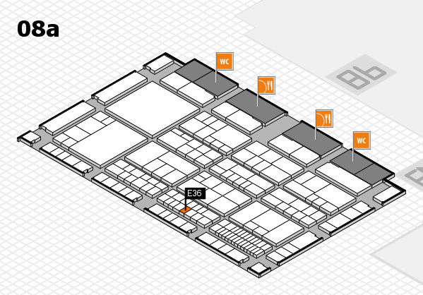 interpack 2017 Hallenplan (Halle 8a): Stand E36