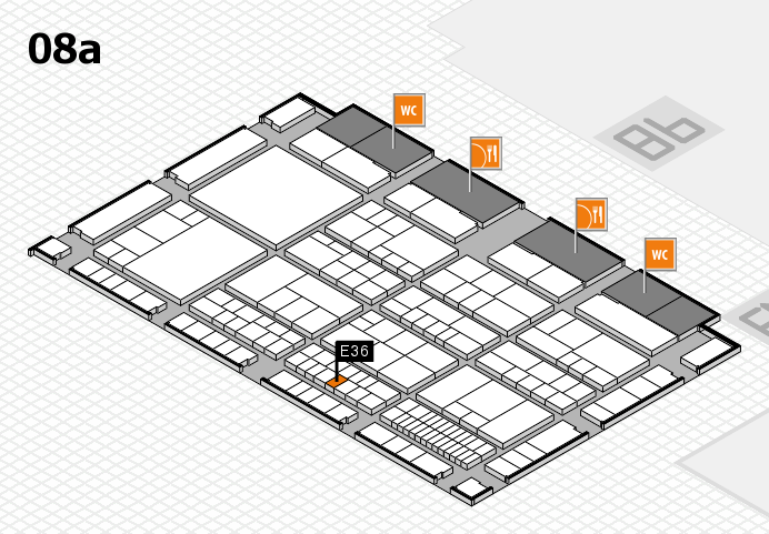 interpack 2017 hall map (Hall 8a): stand E36