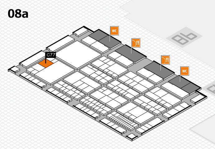interpack 2017 hall map (Hall 8a): stand C77