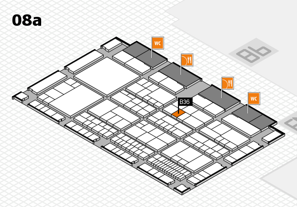 interpack 2017 hall map (Hall 8a): stand B36