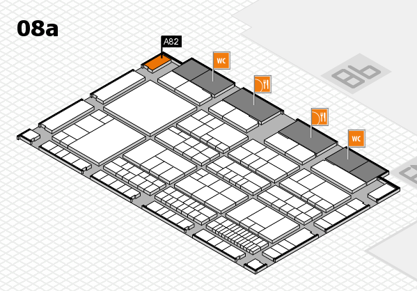 interpack 2017 Hallenplan (Halle 8a): Stand A82