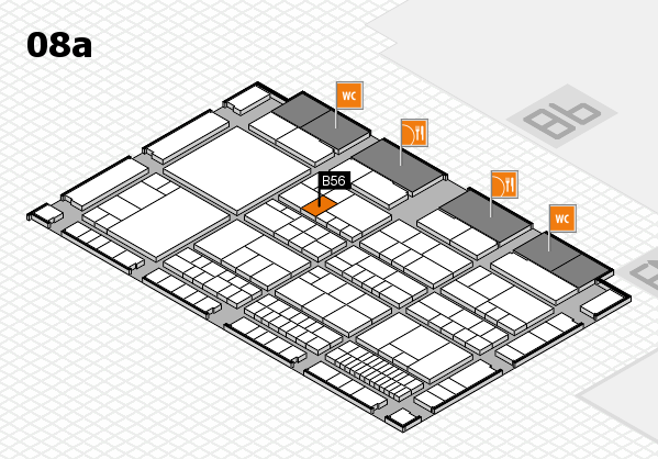 interpack 2017 hall map (Hall 8a): stand B56