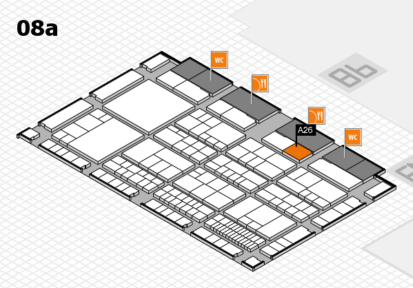 interpack 2017 hall map (Hall 8a): stand A26