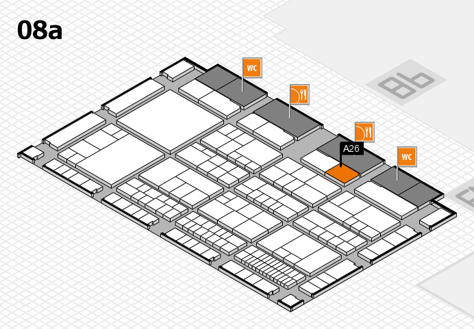 interpack 2017 Hallenplan (Halle 8a): Stand A26