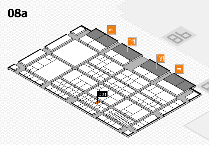 interpack 2017 Hallenplan (Halle 8a): Stand D31