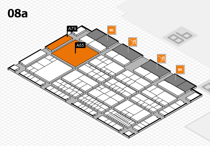 interpack 2017 hall map (Hall 8a): stand A65, stand A79