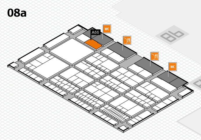 interpack 2017 Hallenplan (Halle 8a): Stand A66