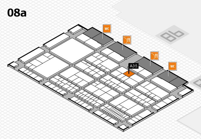 interpack 2017 Hallenplan (Halle 8a): Stand A35