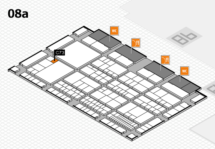 interpack 2017 hall map (Hall 8a): stand C73