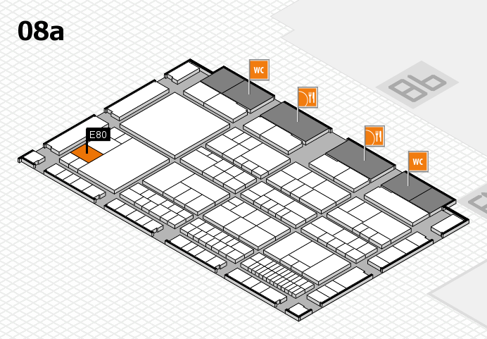 interpack 2017 Hallenplan (Halle 8a): Stand E80