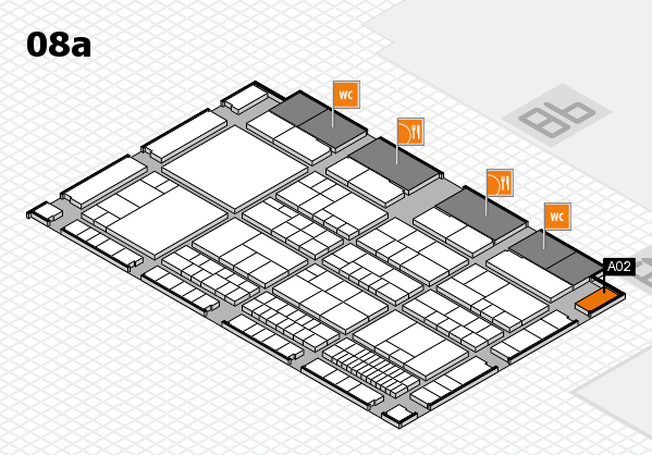 interpack 2017 hall map (Hall 8a): stand A02
