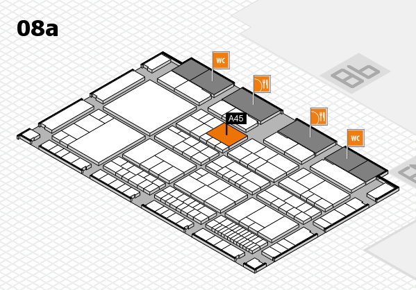 interpack 2017 hall map (Hall 8a): stand A45