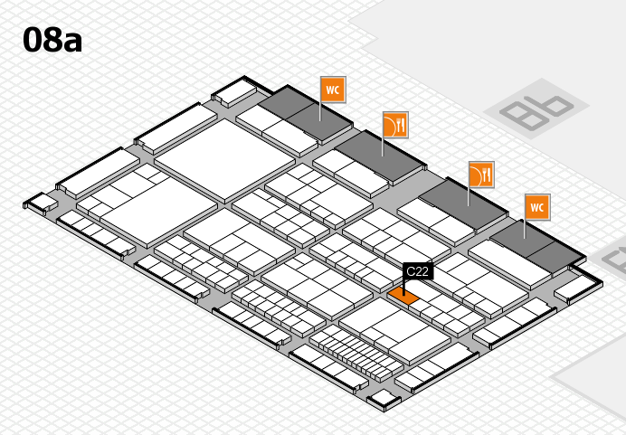 interpack 2017 hall map (Hall 8a): stand C22