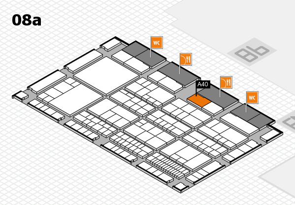 interpack 2017 hall map (Hall 8a): stand A40
