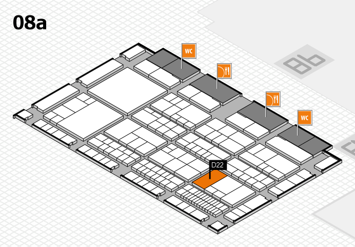 interpack 2017 hall map (Hall 8a): stand D22