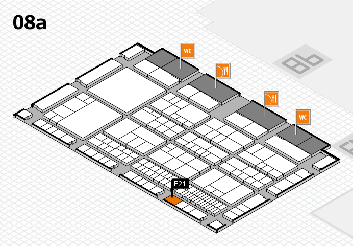 interpack 2017 hall map (Hall 8a): stand E21