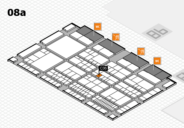 interpack 2017 hall map (Hall 8a): stand C36