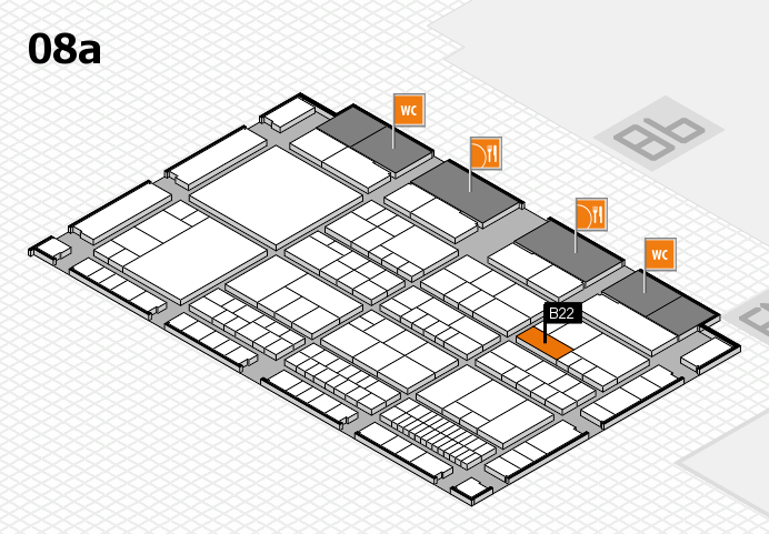 interpack 2017 hall map (Hall 8a): stand B22