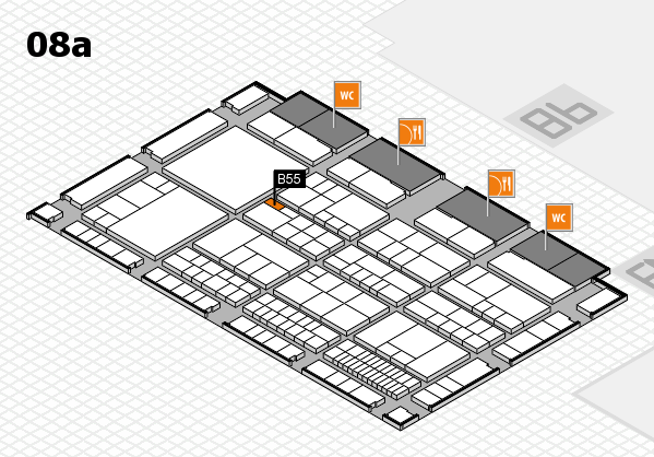 interpack 2017 hall map (Hall 8a): stand B55