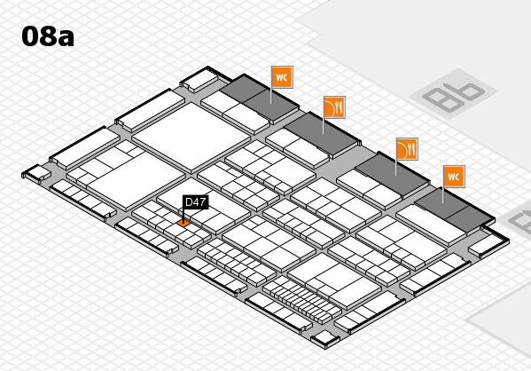 interpack 2017 hall map (Hall 8a): stand D47