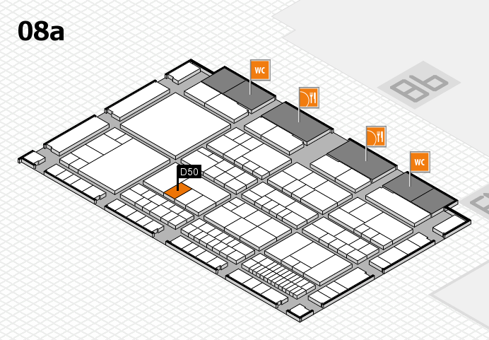 interpack 2017 hall map (Hall 8a): stand D50