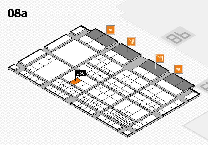 interpack 2017 Hallenplan (Halle 8a): Stand D50