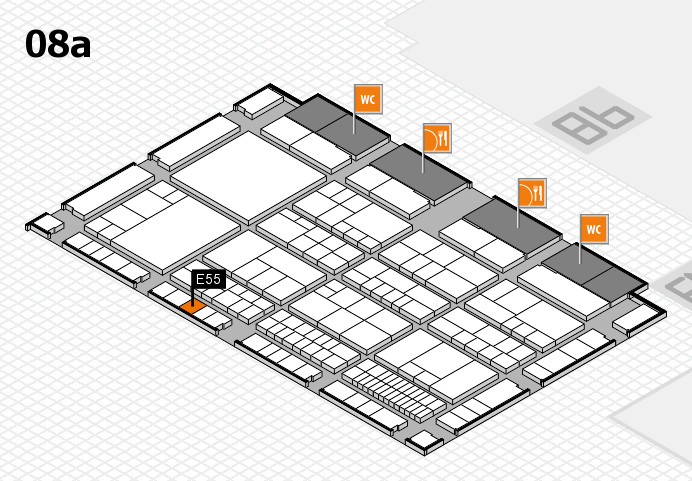 interpack 2017 hall map (Hall 8a): stand E55