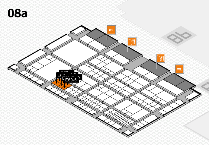 interpack 2017 hall map (Hall 8a): stand E60-1, stand E60-9