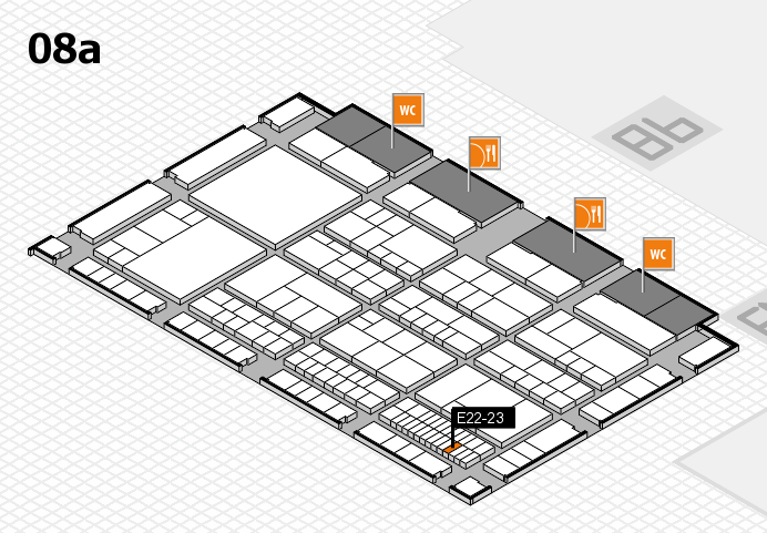 interpack 2017 Hallenplan (Halle 8a): Stand E22-23