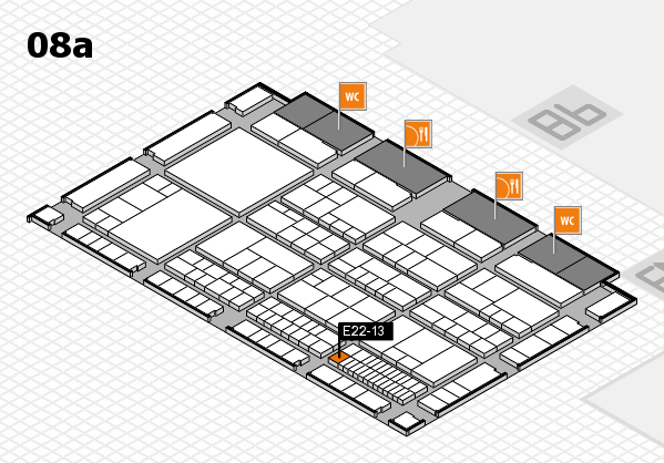 interpack 2017 hall map (Hall 8a): stand E22-13