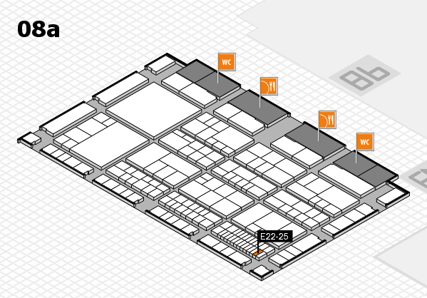 interpack 2017 hall map (Hall 8a): stand E22-25