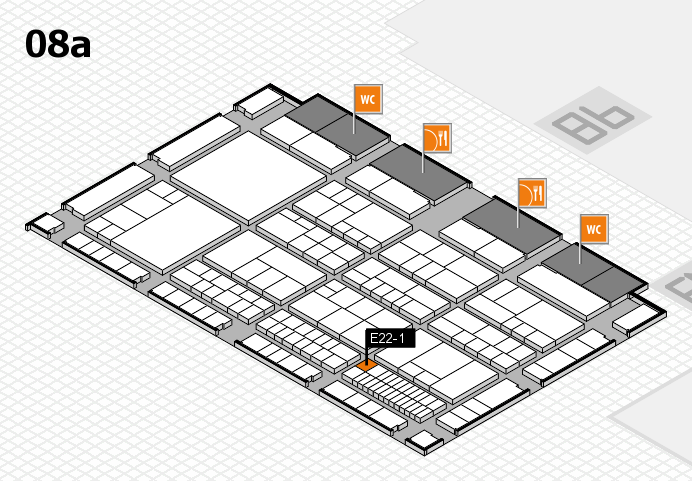 interpack 2017 Hallenplan (Halle 8a): Stand E22-1
