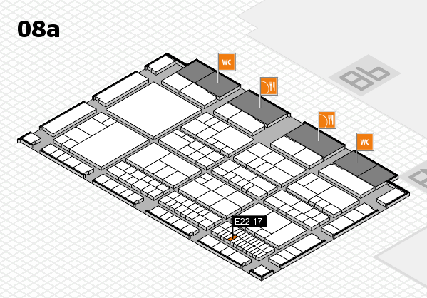 interpack 2017 hall map (Hall 8a): stand E22-17