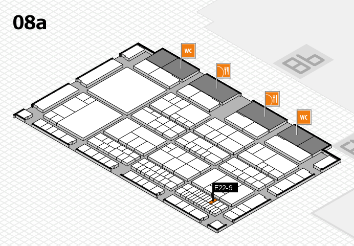 interpack 2017 hall map (Hall 8a): stand E22-9