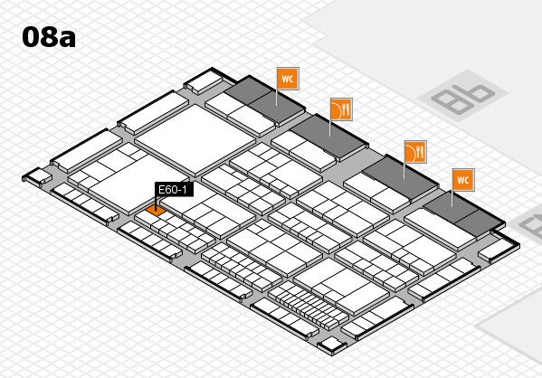 interpack 2017 Hallenplan (Halle 8a): Stand E60-1