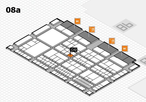 interpack 2017 hall map (Hall 8a): stand C42