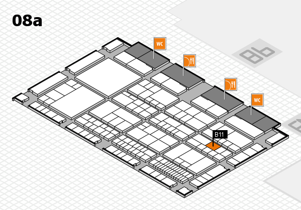 interpack 2017 hall map (Hall 8a): stand B11